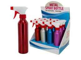 12 Units of Aluminum Spray Bottle Countertop Display - Spray Bottles