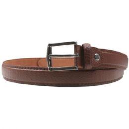 36 Units of Mens Skinny Brown Pebbled Belt - Mens Belts