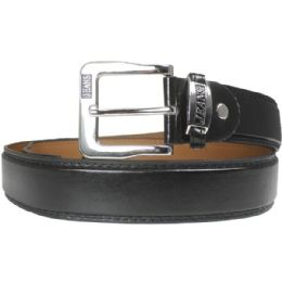 36 Units of Mens Plain Black Belt - Mens Belts