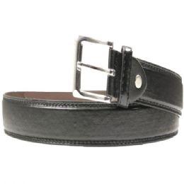 36 Units of Mens Classic Black Belt - Mens Belts
