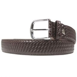 36 Units of Mens Woven Braided Belt In Brown - Mens Belts