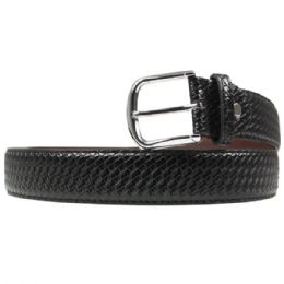 36 Units of Mens Woven Braided Belt In Black - Mens Belts