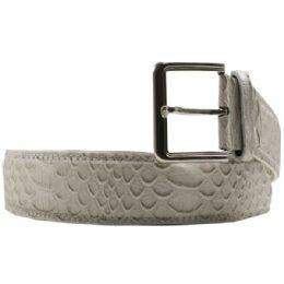 36 Units of Mens Snakeskin Grey Belt - Mens Belts