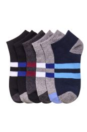 432 Units of Mens Spandex Ankle Socks Size 10-13 - Mens Ankle Sock