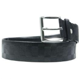 36 Units of Mens Checkered Black Belt - Mens Belts