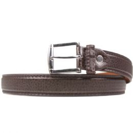 36 Units of Mens Pebbled Fashion Brown Belt - Mens Belts