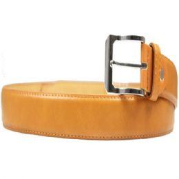 36 Units of Mens Fashion Camel Color Belt - Mens Belts