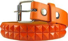 12 Units of Kids Studded Belts In Orange - Kid Belts