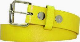 36 Units of Kids Fashion Yellow Belt - Kid Belts