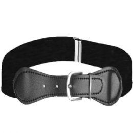 36 Units of Kids Stretchable Belt Black - Kid Belts