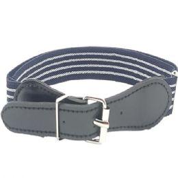 36 Units of Kids Stretchable Belt Grey - Kid Belts