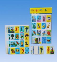 36 Units of Jumbo loteria In PVC bag header card - Card Games