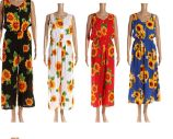 48 Units of Womens Sunflower Printed Summer Romper - Womens Rompers & Outfit Sets