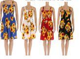 48 Units of Womens Sunflower Summer Sun Dress - Womens Sundresses & Fashion