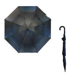 36 Units of 41 X 52 DOUBLE WIND PROOF BLACK UMBRELLA - Umbrellas & Rain Gear