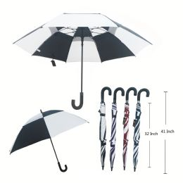 36 Units of 41 X 52 DOUBLE WIND PROOF UMBRELLA ASSORTED COLORS - Umbrellas & Rain Gear