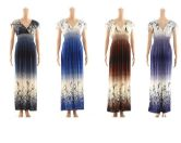 48 Units of Women Fashion Printed Summer Dress Assorted Colors - Womens Sundresses & Fashion