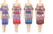 48 Units of Womens Summer Fasahion Printed Dress - Womens Sundresses & Fashion