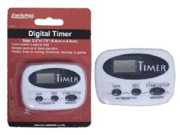 """144 Units of Digital Timer 2.5"""" X 1.75"""" White - Home & Kitchen"""