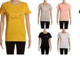 24 Units of Womens Fashion Short Sleeve Hola Beaches Tee - Womens Fashion Tops