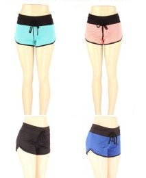 72 Units of Women's 2 Tone Lounge Shorts In Assorted Color - Womens Active Wear
