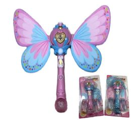24 Units of Light and Sound Fairy Bubble Wand with Wings - Bubbles