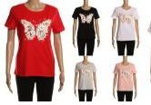 24 Units of Womens Fashion Short Sleeve Butterfly Tee - Womens Fashion Tops