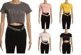 24 Units of Womens Short Sleeve Crop Paris Tee Shirt - Women's T-Shirts