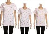 24 Units of Womens Short Sleeve Pattern Tee Shirt - Women's T-Shirts