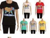 24 Units of Womens Short Sleeve Elephant Pattern Tee Shirt - Women's T-Shirts