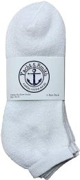 120 Units of Yacht & Smith Men's Wholesale Bulk No Show Ankle Socks, With Free Shipping - Size 10-13 (White) - Mens Ankle Sock