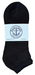 120 Units of Yacht & Smith Men's Wholesale Bulk No Show Ankle Socks,With Free Shipping - Size 10-13 (Black) - Mens Ankle Sock