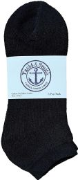240 Units of Yacht & Smith Men's Wholesale Bulk No Show Ankle Socks, With Free Shipping - Size 10-13 (Black) - Mens Ankle Sock