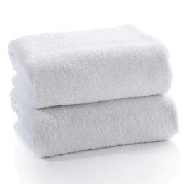 12 Units of White Cotton Bath Towel Size 22x44 - Bath Towels