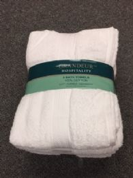 12 Units of Soft Durable Absorbent White Bath Towel Size 30x52 - Bath Towels