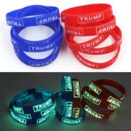 48 Units of Trump Silicone Bracelet--Glow in Dark - Bracelets