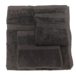 12 Units of Large Strong And Durable Cotton Bath Towel In Size 27x54 In Black - Beach Towels