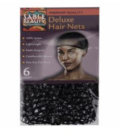 24 Units of 6pk Deluxe Hair Nets - Hair Accessories