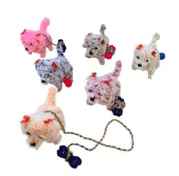 24 Units of Barking And Walking Dog With Leash [light Up Head & Tail] - Toys & Games