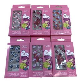 24 Units of Child's Fashion Nails Printed - Manicure and Pedicure Items