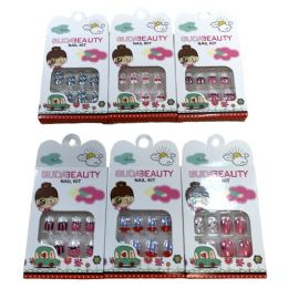 24 Units of Child's Fashion Nails [asst Prints] - Manicure and Pedicure Items
