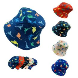 24 Units of Child's Bucket Hat [dinosaurs] - Bucket Hats