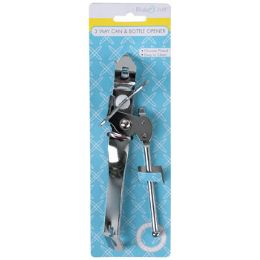 72 Units of Can Opener 3-Way ChromE-Plated Metal/kitchen Tie-ON-Card - Kitchen Gadgets & Tools