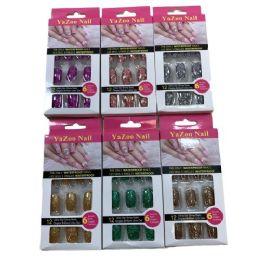 96 Units of Fashion Nails [glitter] - Manicure and Pedicure Items