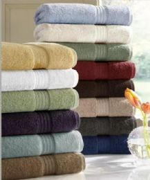 6 Units of Designer Luxury Heavy Weight 100 Percent Egyptian Bath Towel In Marigold - Bath Towels