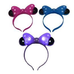 48 Units of Mickey Mouse Light Up Headband - Light Up Toys