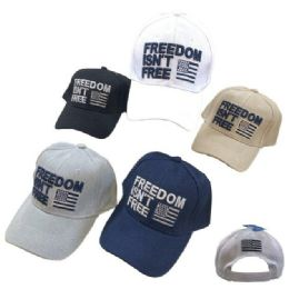24 Units of Freedom Isn't Free Hat With Flag - Baseball Caps & Snap Backs