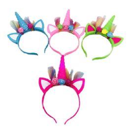 24 Units of Unicorn Light Up Headband - Light Up Toys