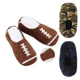 24 Units of Men's House Slippers [Assorted Styles] - Men's Slippers