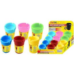 48 Units of Small Colored Butt Bucket - Ashtrays
